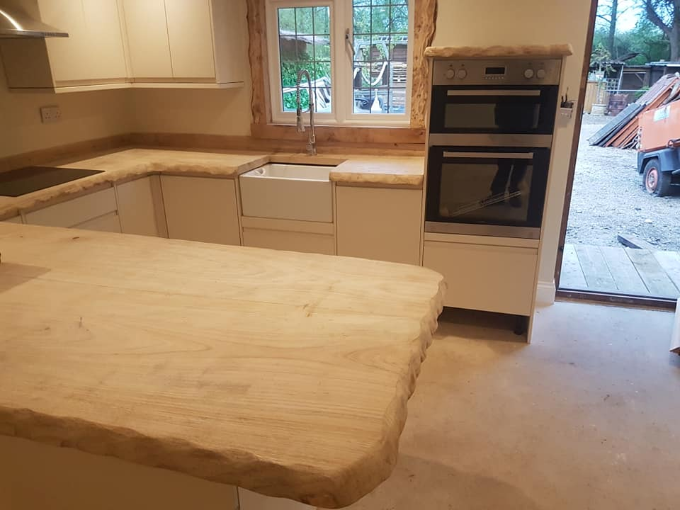 Kitchen timber worktop