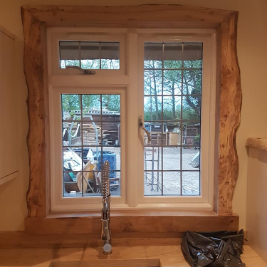 bespoke kitchen window frame